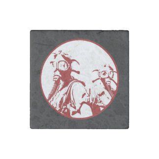 Blood Red Gas Mask Girls Stone Magnet