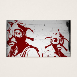 Blood Red Gas Masks Business Card