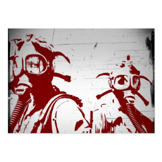 Blood Red Gas Masks Business Cards