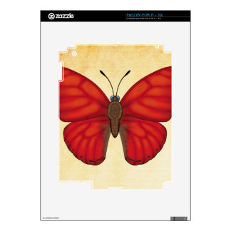 Blood Red Glider Butterfly iPad 2 Decals