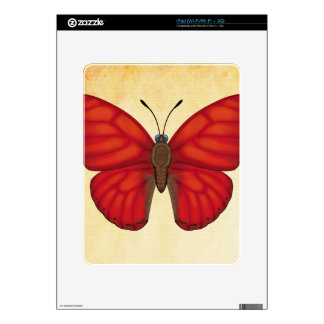 Blood Red Glider Butterfly iPad Decal