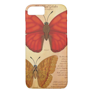 Blood Red Glider Butterfly iPhone 8/7 Case