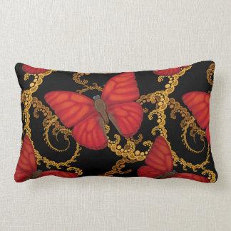 Blood Red Glider Butterfly Lumbar Pillow