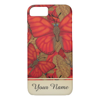 Blood Red Glider Butterfly Personalized iPhone 8/7 Case