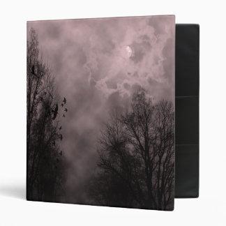 Blood Red Haunted Sky with Ravens Vinyl Binder