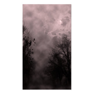 Blood Red Haunted Sky with Ravens Double-Sided Standard Business Cards (Pack Of 100)