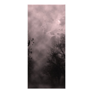 Blood Red Haunted Sky with Ravens Rack Card