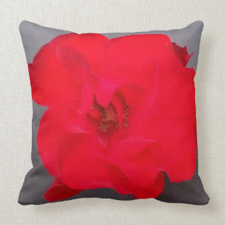 """BLOOD RED ROSE Polyester Throw Pillow 20"""" x 20"""""""