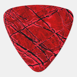 BLOOD RED ROYALE (an abstract art design) ~ Guitar Pick