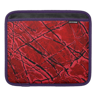 BLOOD RED ROYALE (an abstract art design) ~ iPad Sleeve
