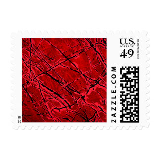 BLOOD RED ROYALE (an abstract art design) ~.jpg Postage