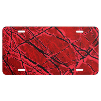 BLOOD RED ROYALE (an abstract art design) ~ License Plate
