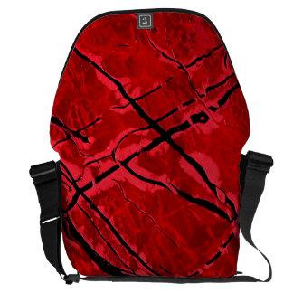 BLOOD RED ROYALE (an abstract art design) ~ Messenger Bag