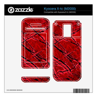 BLOOD RED ROYALE (an abstract art design) ~ Kyocera X-tc Decals
