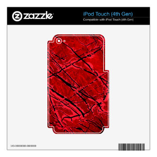 BLOOD RED ROYALE (an abstract art design) ~ iPod Touch 4G Skins