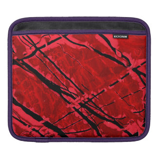BLOOD RED ROYALE (an abstract art design) ~ Sleeve For iPads