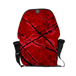 BLOOD RED ROYALE (an abstract art design) ~ Small Messenger Bag