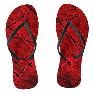 BLOOD RED ROYALE ~ FLIP FLOPS