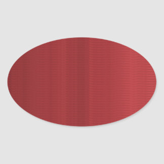 Blood RED Shades Stripes Oval Sticker