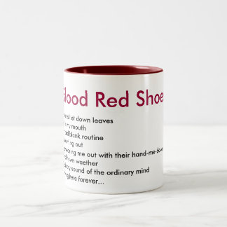 Blood Red Shoes Two-Tone Coffee Mug