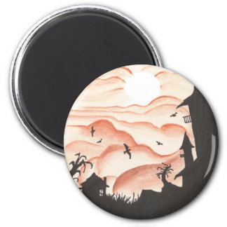 Blood Red Sky 2 Inch Round Magnet