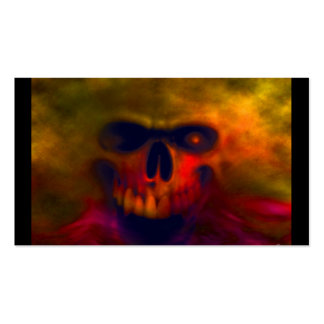 Blood Red Sky Cloud Skull Business Card