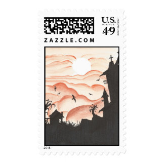 Blood Red Sky Postage