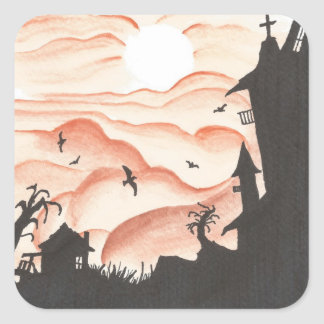 Blood Red Sky Square Sticker
