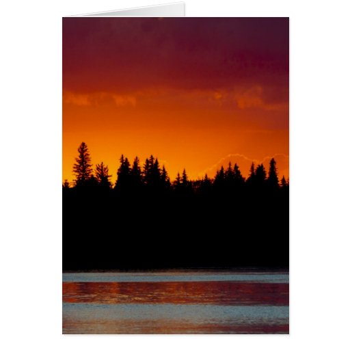 Blood Red Sunset (Customizable) Card
