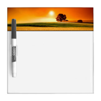 Blood-Red Sunset Dry-Erase Board