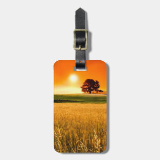 Blood-Red Sunset Luggage Tag