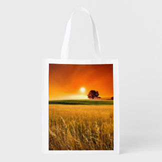 Blood-Red Sunset Reusable Grocery Bag