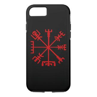 Blood Red Vegvísir (Viking Compass) iPhone 7 Case