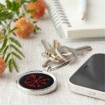 Blood Red Vegvísir (Viking Compass) Keychains