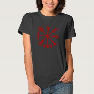 Blood Red Vegvísir (Viking Compass) Tee Shirt