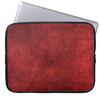 Blood Red Velvet Plush Fabric Laptop Computer Sleeves