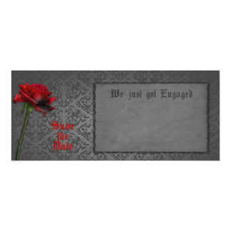 Blood Rose Gothic Save the Date Card