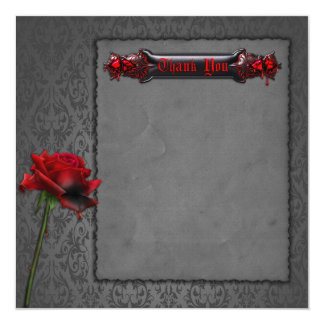 Blood Rose Gothic Thank You card
