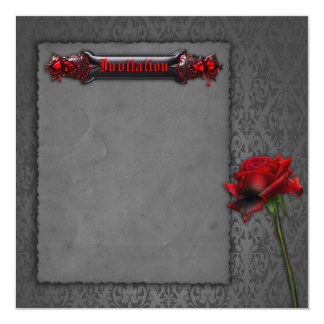 Blood Rose Gothic Wedding Invitation