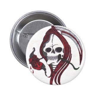 Blood Rose Reaper Button