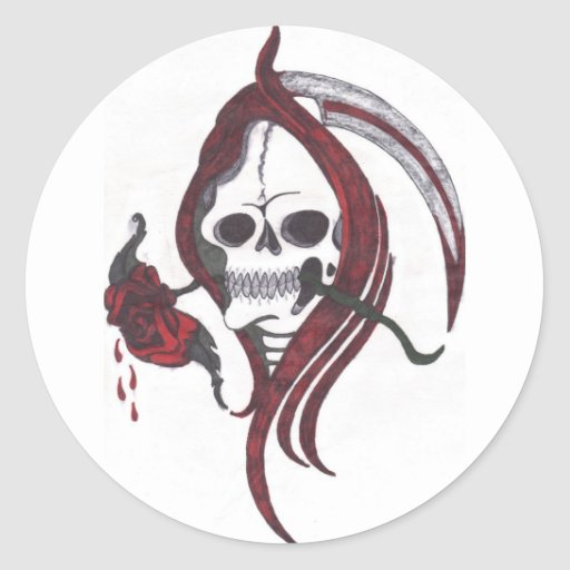 Blood Rose Reaper Sticker