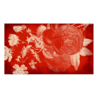 blood rose romantic business card