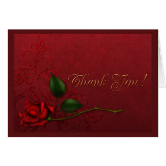 Blood Rose Thank You Card