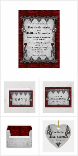 Blood Roses and Red Silk Gothic Wedding