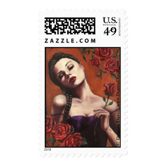 Blood Roses - Postage Stamps