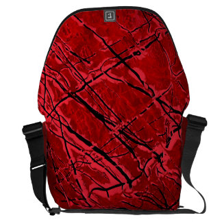 BLOOD ROYALE ~ (red abstract art design) ~ Courier Bag
