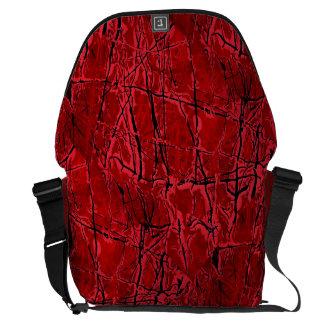 BLOOD ROYALE ~ (red abstract art design) ~ Messenger Bag