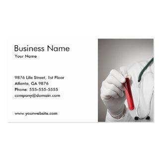Blood Sample Business Card Template Business Card