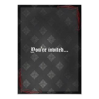Blood Scroll Vampire Goth Wedding 5x7 Paper Invitation Card