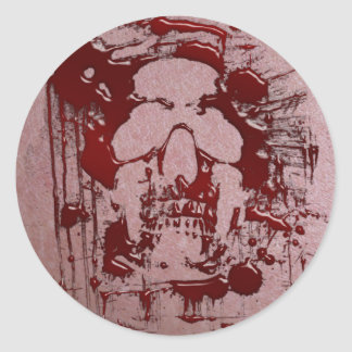 Blood Skull #2 Classic Round Sticker